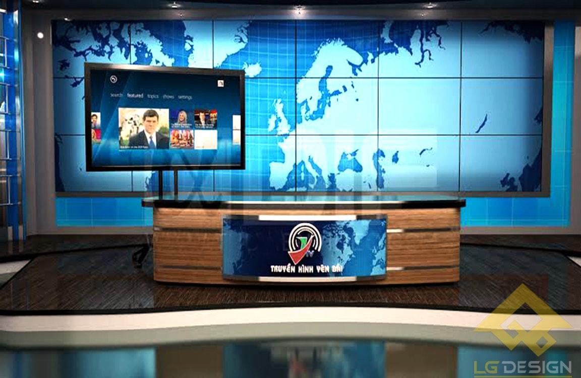 GOADESIGN Thiết kế phim trường - đài truyền hình Yên Bái (2)