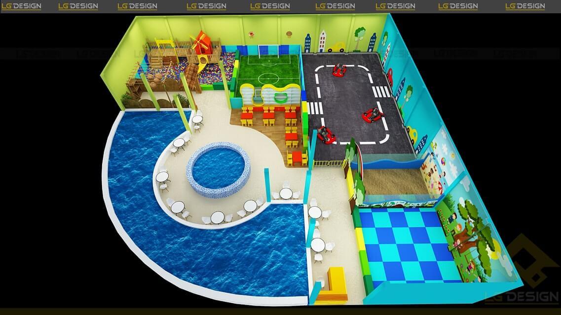 GOADESIGN Thiết kế thi công khu vui chơi Xì Trum - Gia Lai (16)