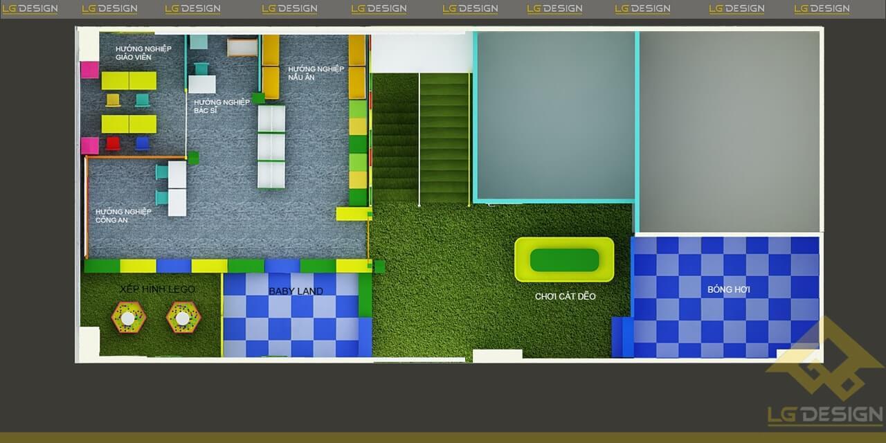 GOADESIGN Thiết kế thi công khu vui chơi trường mầm non BRVT (10)