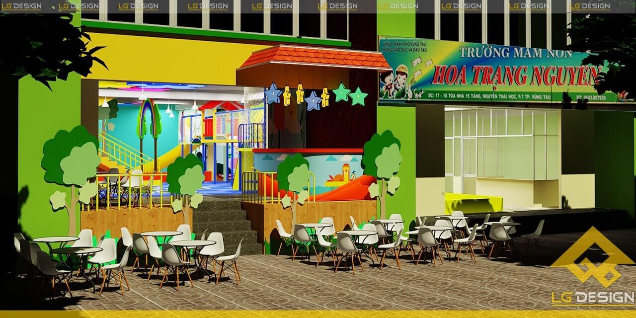 GOADESIGN Thiết kế thi công khu vui chơi trường mầm non BRVT (12)
