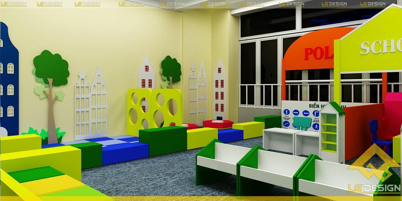 GOADESIGN Thiết kế thi công khu vui chơi trường mầm non BRVT (14)