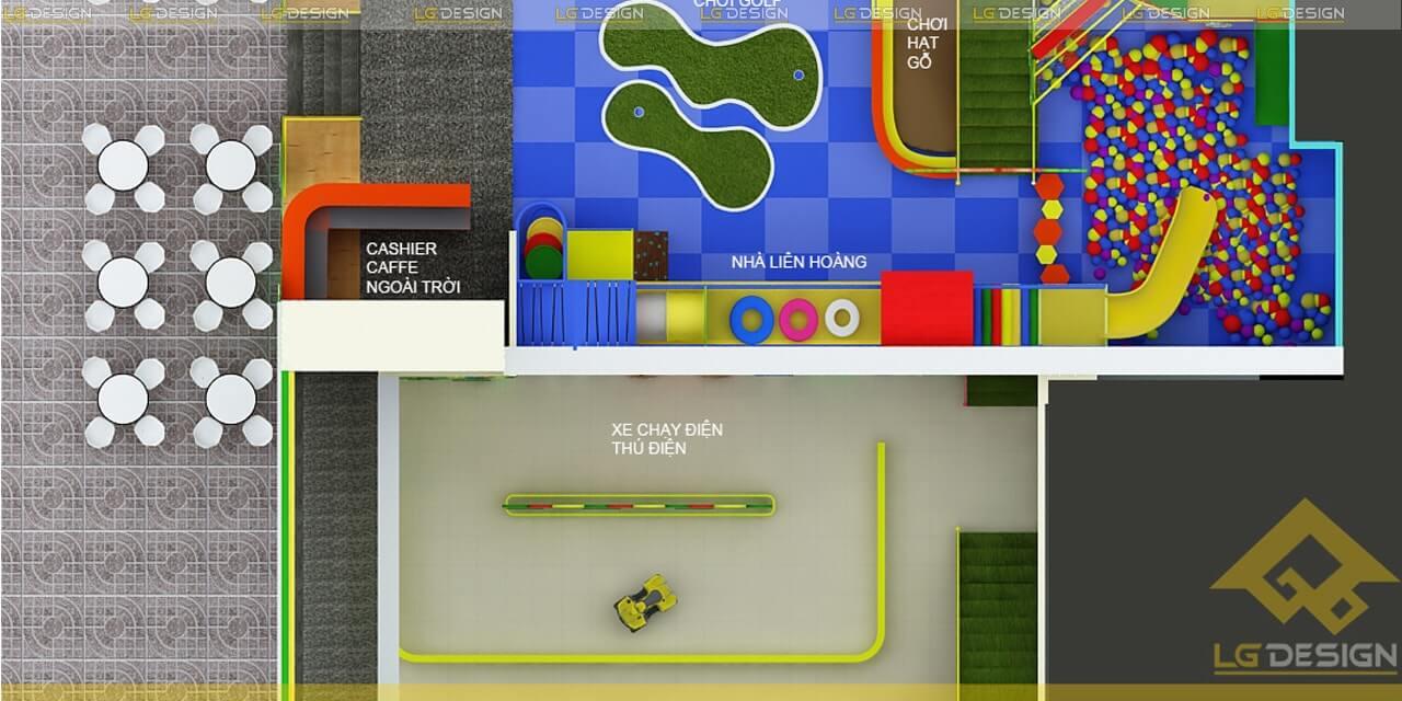 GOADESIGN Thiết kế thi công khu vui chơi trường mầm non BRVT (9)
